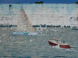 vintage eastport boats wall mural bayartisans when wandering local street sometimes you happen upon wall murals there is a beautiful wall mural in eastport md it was painted by cindy fletcher holden