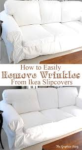ikea slipcovers how to easily remove wrinkles from ikea slipcovers the graphics
