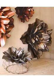 Metal Flower Wall Decor - raw metal flower wall hangings flower sculpture metal flower