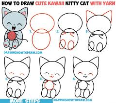 coloring pages endearing easy to draw kittens cartoon kitten21