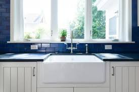 Blue Kitchen Sink Kitchen Sinks Cast Iron Vs Fireclay Hughes Huntersville
