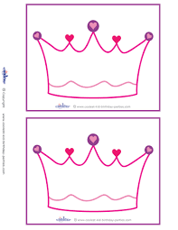 blank printable crown invitations coolest free printables
