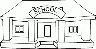coloring page school printable school building coloring pages murderthestout