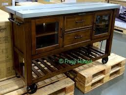 costco kitchen island bayside furnishings kitchen island costco frugalhotspot kitchen