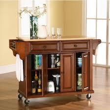 crosley furniture kitchen cart crosley furniture wood top kitchen cart or island in black