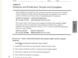 complete subjects and predicates worksheet 3 youtube
