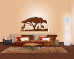 Wohnzimmer Orange Wanddeko Giraffe Im Afrika Stil Für Ihr Wohnzimmer