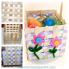 craft stick easter basket u2013 the pinterested parent