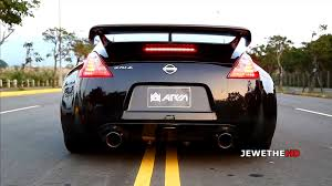 nissan 370z gt for sale epic sounding nissan 370z w armytrix supersport exhaust revs