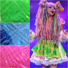 lady gaga halloween costume choose color lady gaga artrave neon plastic see through skater