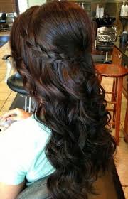 cascade braid with curls with regard to hairstyle seemly to weddings