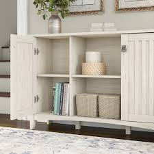 bush furniture salinas storage cabinet in antique white sas147aw 03