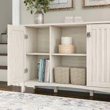 Nascar Bedroom Furniture by Bush Furniture Salinas Storage Cabinet In Antique White Sas147aw 03