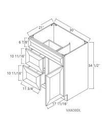 Brilliant White Shaker Vanity Sink Base Cabinet  Dummy Drawer - 21 inch white base cabinet