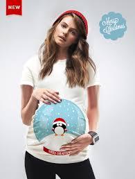 christmas snow globe maternity t shirt pregnancy tshirt tee shirt
