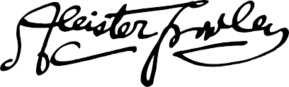 clipart aleister crowley signature