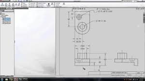 How To Read Dimensions Solidworks Dimension A Drawing Sheet Youtube