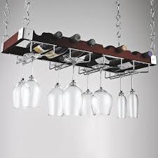 furniture stylish hanging wine glass rack for stemware storage
