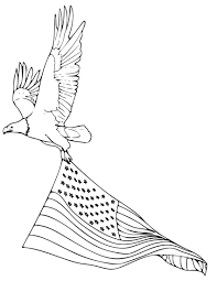bald eagle coloring pages with american flag coloringstar
