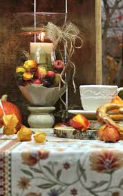 Esszimmer Herbstlich Dekorieren Herbstdeko Tischläufer Sander Tische Dekorieren Im Herbst