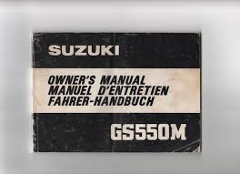 suzuki gs550m factory owners manual u2022 7 99 picclick uk
