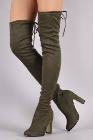 s high boots suede drawstring heeled the knee boots knee boot rounding