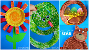 15 creative paper plate crafts for kids to make youtube