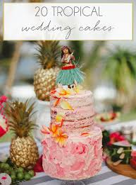 Tropical Theme Wedding - tropical wedding cakes