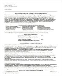 Marketing Assistant Resume Sports Marketing Resume Head Athletic Trainer Cover Letter