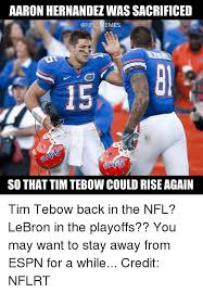 Tebow Meme - aaron hernandez wassacrificed memes so that tim tebow could rise
