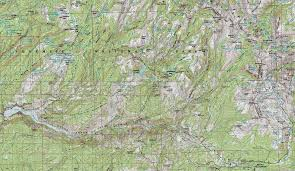 Map Of Yosemite Grand Canyon Of The Tuolumne River Backpacking Map