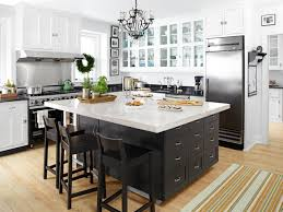 White Kitchen Cabinets With Black Island Unfinished Kitchen Islands Pictures U0026 Ideas From Hgtv Hgtv