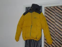 Bench Padded Jacket Bench Quilted Jacket With A Hood Size S Yellow And Charcoal In