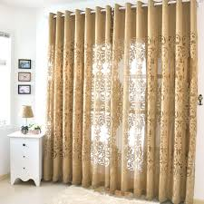 Gold Color Curtains Beautiful Yarn Patterned Semi Gold Sheer Curtains