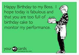 funny happy birthday ecard for boss