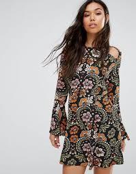 boohoo clothes boohoo shoes nz boohoo floral cold shoulder dress multi women