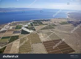 aerial view farmland near salton sea stock photo 77608873