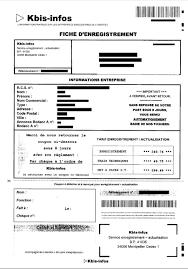 extrait d immatriculation chambre des m騁iers arnaque par courrier kbis infos infogreffe