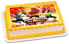 power rangers birthday cake power rangers samurai edible cake or cupcake topper edible