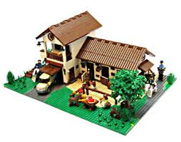 wood lego house toys wooden toys construction toys educational toys