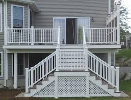 luxury deck stairs with landing how to build deck stairs with