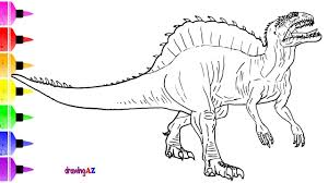 how to draw dinosaur from jurassic world for kids u0026 dinosaur