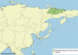 World Time Zones Map Sret Srednekolymsk Time Zone