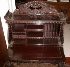 Desk Chair For Sale Asian Antiques Japanese Meiji Export Carved Cherry Wood Desk And