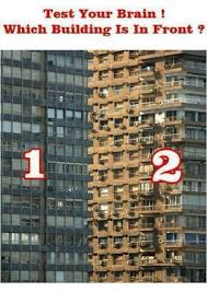 Building Memes - test your brain which building is in front brains meme on me me