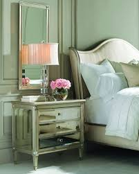 Pink Nightstand Side Table Mirrored Furniture Coffee U0026 Side Tables And Cabinets At Neiman