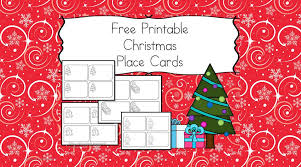 printable name place cards free printable christmas place cards the kids help