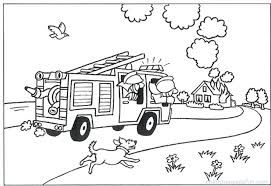 lego fireman colouring pages fire truck coloring preschoolers