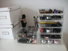 charming clear makeup storage for more organized dressing table