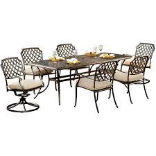 Agio Wicker Patio Furniture - amazon com agio heritage7pc 7 piece heritage dining set patio